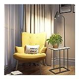 WEM Lámpara de pie, mesa de centro con fuente de luz LED, mármol minimalista moderno con mesa, sala de estar, mesita de noche creativa para dormitorio,A