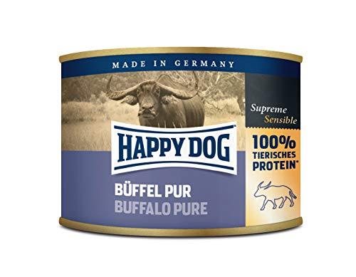 Happy Dog Fleisch Dosen Büffel Pur, 200 g, 12er Pack (12 x 200 g)