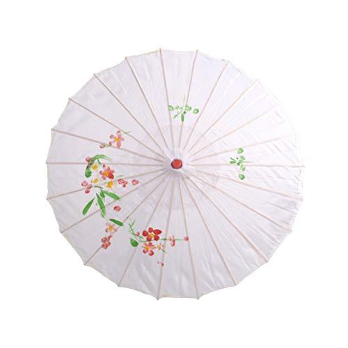 Juvale sombrilla de Papel Chino//japon/és Color Blanco 6 Unidades