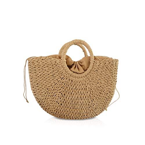 NICOLE&DORIS nieuwe vrouwen handtas strotas handvat tas zomer strandtas rotan woven handtas voor de dames