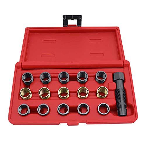 Montloxs M14 x 1,25 mm Werkzeugsatz zur Reparatur des Zündkerzengewindes M16 Tap Portable Tap Tool