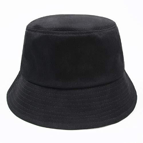 youler Sombrero Pescador, Soft Cotton Sun Cap,Plegable Bucket Hat Adecuado para Viajes de Pesca al Aire Libre (Negro)