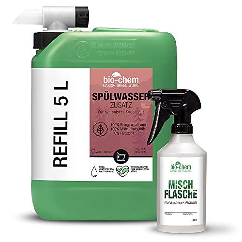 Bio-Chem Bio Spülwasser-Zusatz WC-Reiniger Rinse Flush für Camping-Toilette, Chemietoilette und Mobile Toilette, Konzentrat 1 Liter