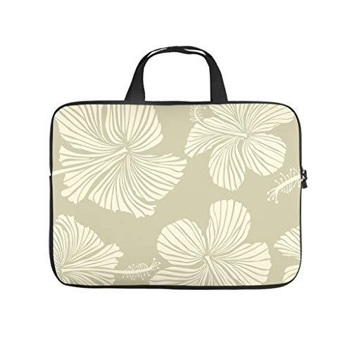 Hibiscus Flower 3D Print Laptop Bag Protective Case Slim Neoprene Laptop Case Bag Trendy Notebook Sleeve Case for Women Men
