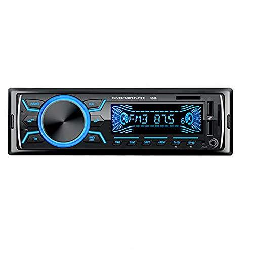 Boomboost Radio Coche Autoradio Reproductor De MP3 Bluetooth Radio FM Lector De Tarjetas con Doble USB Soporte Carga Rápida Gran Oferta 5008