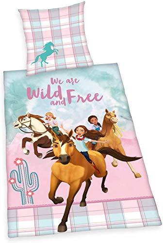 SPIRIT Bettwäsche glatt Abigal Lucky PRU We Are Wild and Free 135 x 200 cm Geschenk NEU Wow - All.In-One-Outlet-24 -