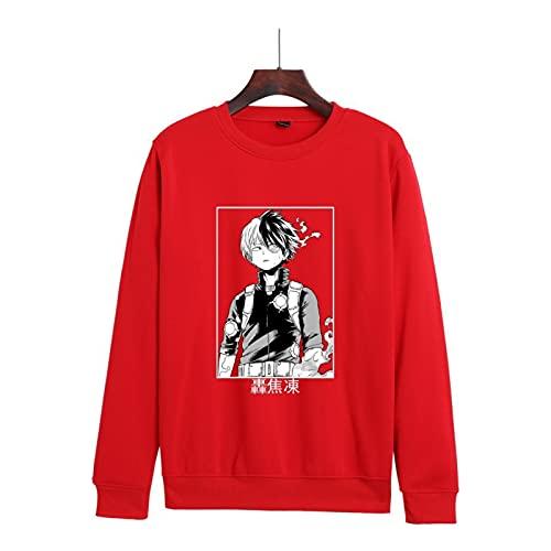 N\C Suéter de Cuello Redondo con Estampado de Anime de otoño e Invierno para Parejas Sudadera con Capucha my Hero Academia Sudadera con Capucha de Moda Fresca M