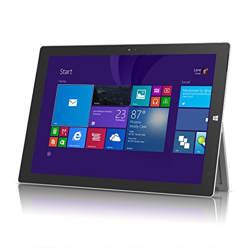 Microsoft Surface Pro 3 Tablet (1631) Silver - 256GB, 12in, Windows 8, Intel Core i5 - Renewed