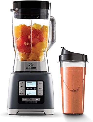 Calphalon Activesense Blender with Blend-N-Go Cup, Dark Stainless Steel