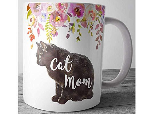 Taza de la mamá del gato Regalo del amante del gato Taza del gato Taza de café de la mamá Taza de café linda Regalo del día de la madre Regalo de la madre Accesorios de escritorio Regalo de oficina