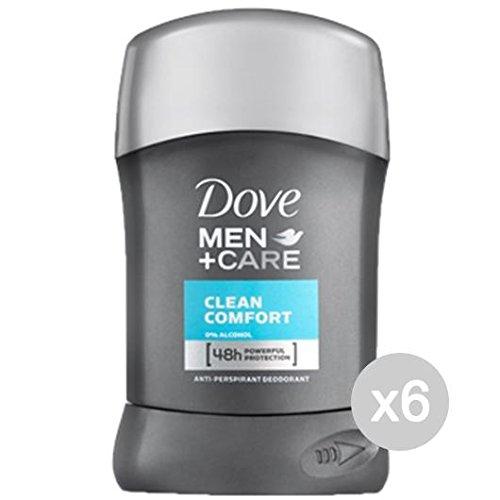 Juego de 6 desodorante en barra 40 para hombre, Clean Confort, cuidado e higiene del cuerpo