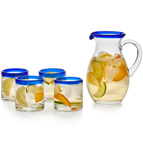 Libbey Sangria Entertaining Set with 4 Rocks Glasses and Pitcher