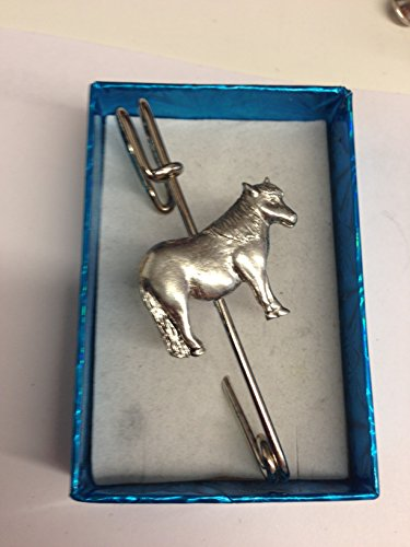 Shetland Pony E06 - Broche para bufanda, diseño de caballo y ecuestre