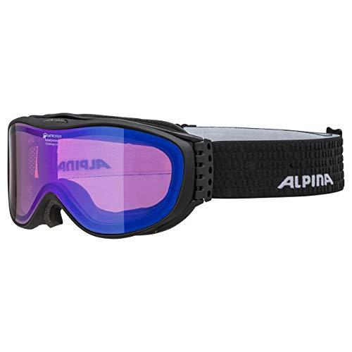 ALPINA CHALLENGE 2.0 Skibrille, Unisex– Erwachsene, black matt, one size