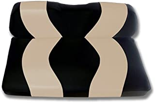 Madjax Wave 2001-Up Black/Tan Front Seat Covers for Club Car DS Golf Carts