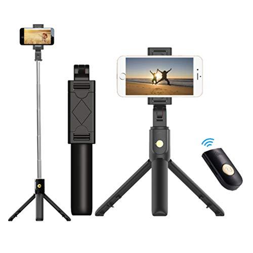 GladiolusA Selfie Stick,Selfiestick Stativ Mini Selfie-Stange Mit Bluetooth-Fernauslöse Handy Erweiterbarer Tragbar Monopod Handyhalter Für Die Meisten IOS Android Smartphones Schwarz 1PC