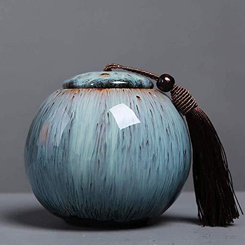 YYCHJU Contenedor de Almacenamiento de Té Frascos para Tarro de Almacenamiento de hogares de cerámica con Cubierta hermética y Esmalte Helado Universal Coffee Tet Treal Tet Lin (Size : 1cps)