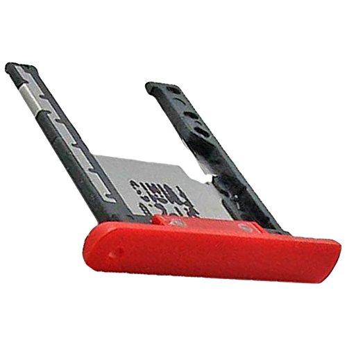 Nokia Lumia 1520 Original Speicher-Karten-Halter Rot Speicherkarten Schubfach SD-Karte Schublade SD Tray