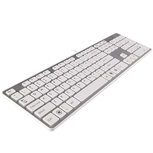 HUOQILIN Chocolade-toetsenbord Slim Muute Desktop Notebook Externe USB bedrade speeltoetsenbord Schaar Wit Office Mute Comfort