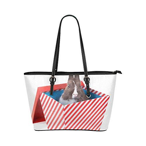 Plsdx Kawaii Baby Kaninchen Box Große Leder Tragbare Top Griff Hand Totes Taschen Kausalen Handtaschen Mit Reißverschluss Schulter Shopping Geldbörse Gepäck Organizer Für Dame Mädchen Frauen