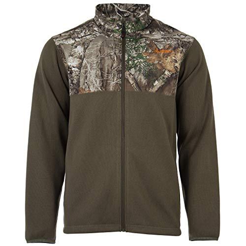 HABIT Men's Fireside Sweater Knit Jacket, 3X-Large, Realtree Edge/Ivy Green