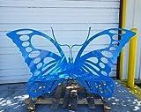 NOT BRANDED Butterfly Bench, Garden Bench, Sitting Bench, Custom, Unique, Showpiece, Patio, Sitting Area, Metal Bench, Rustproof