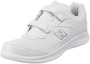 New Balance Men's 577 V1 Hook and Loop Walking Shoe, White/White, 13 XW US