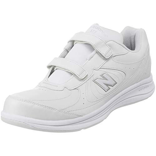 New Balance 577 Mens Walking Sneakers in White (MW577VW)