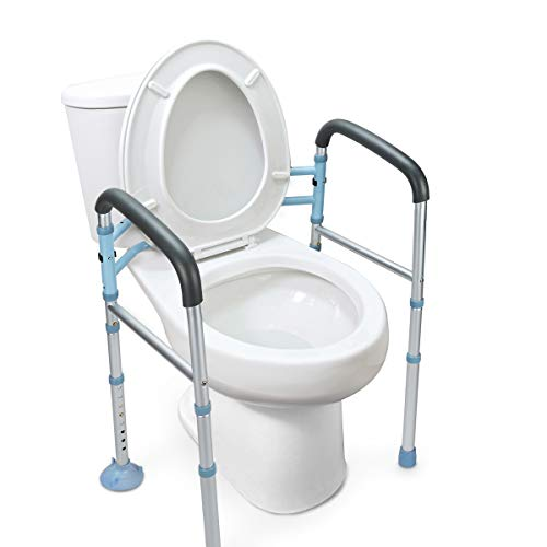 OasisSpace Stand Alone Toilet Safety Rail - Heavy Duty Medical Toilet Safety...