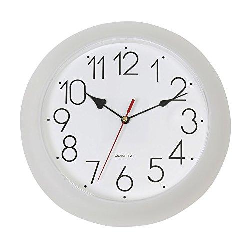 """OMEGA - Orologio da parete """"Everyday"""", 25,5 cm, colore: Bianco"""