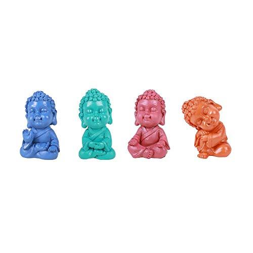 Pacific Giftware Colorful Mini Gautama Buddha Resin Figurine