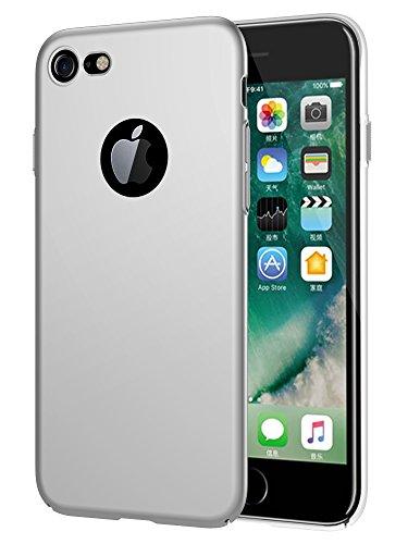 EIISSION Hülle Kompatibel mit iPhone 7 Handyhülle Hardcase, Ultra Dünn iPhone 7 Hülle aus Hart-PC Hülle Cove Silikonhülle für iPhone 7 (2016) (Silber)