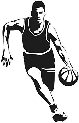Etiqueta de la pared DIY Art Decal Jugador de baloncesto Pelota pequeña Jugador de deportes de baloncesto 57X88Cm