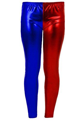 Leggings et shorts multicolores Harley Quinn de Suicide Squad - Pour femme - Taille36 à 50 - Rouge - 36-50