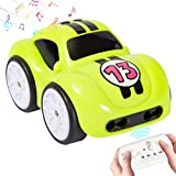 Tikduck RC Cartoon Car 2.4 GHz Remote Control Car Toy with Music and Sound, Track, Follow, Obstacle Avoidance, 4 Modes for Toddlers Kids Boys Girls (Green)