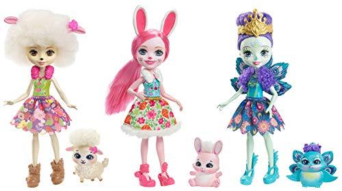 Enchantimals Pack de 3 muñecas, (Mattel Spain FMG18)