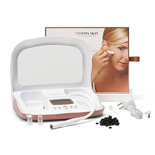 Trophy Skin MicrodermMD Microdermabrasion Machine - Spa-Quality Diamond Tip and Advanced Vacuum Technology Deliver Professional Dermabrasion Facial Treatments for Radiant Skin and Reduced Wrinkles