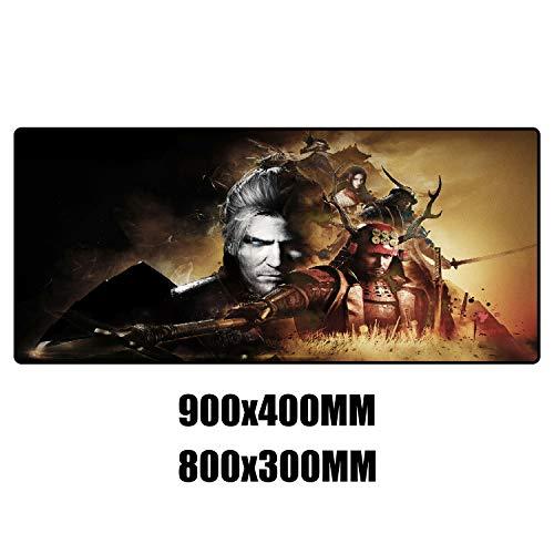 Großes Gaming Mauspad 900x400x3mm Nioh A Mousemat,Komfortable und glatte Oberfläche,Verbesserte Genauigkeit und Geschwindigkeit.