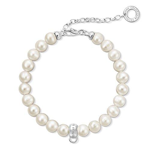 Thomas Sabo Damen-Armreifen Künstliche Perle X0225-082-14-L18,5v