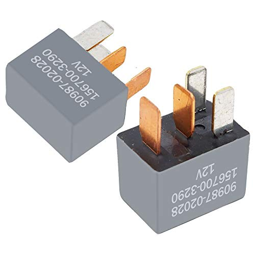 2 Pack 90987-02028 A/C Clutch Fan Relay 4 Pin