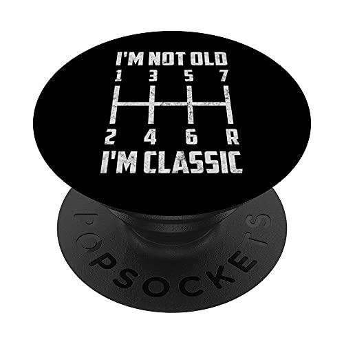 No soy viejo, soy clásico | Patrón de cambio de transmisión PopSockets PopGrip Intercambiable