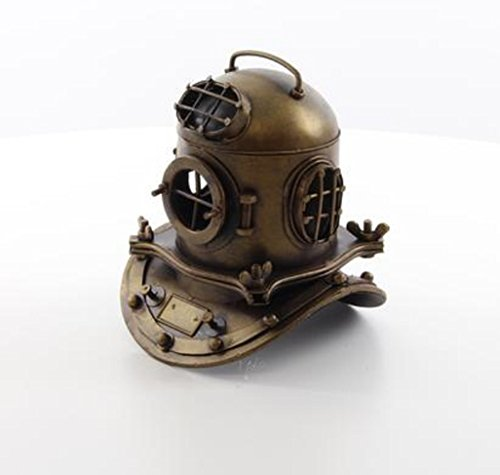 Unbekannt DEKO TIEFSEETAUCHER Helm TAUCHERHELM MARITIM Jules Verne ANTIK Stil Metall NEU