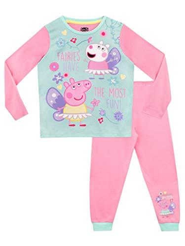 Peppa Pig Pijamas de Manga Larga para niñas Hadas Rosa 4-5 Años