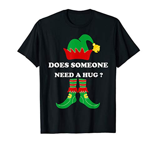 Does someone need a hug ? funny elf gift for christmas