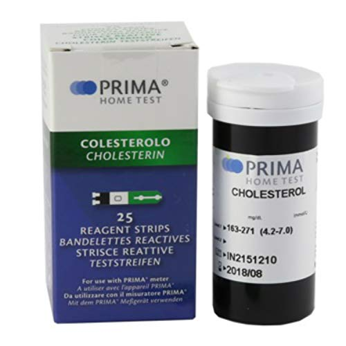 Prima Cholesterol Test Strips (Pack of 25 pcs)