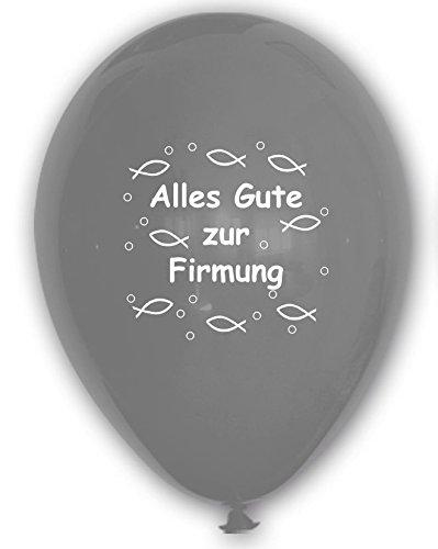 Unbekannt 10 Luftballons Alles Gute zur Firmung, Silber, ca. 30 cm Durchmesser