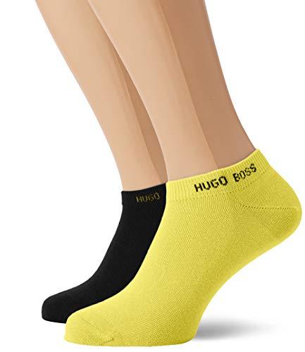 BOSS Herren Sneaker Socke Color Füßlinge, Gelb (Bright Yellow 737), 39/42 (Herstellergröße: 39-42) (2er Pack)