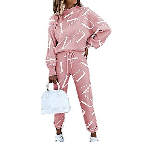 MoneRffi Women Tracksuit Sets 2 Piece Sports Suit Tie Dye Casual Long Sleeve Tops Trouser with Pocket Leisure Loungewear Sweatshirt Sportswear Suit For Jogging Sport Fitness Settype 2XXL