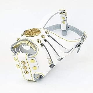 Bestia Maximus Basket Muzzle. Studded Design. Leather