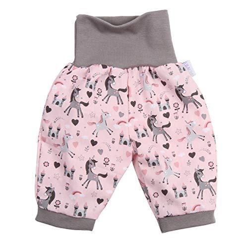 Lilakind – Pantalones bombachos 3/4 para bebé, color rosa, talla 50/56-134/140. Fabricado en Alemania. rosa gris 86 /92 cm